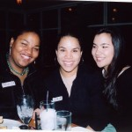 SFS Alumni at 40th Anniversary Alumni Social, from left to right: Trulise, Adaya, Kelly.