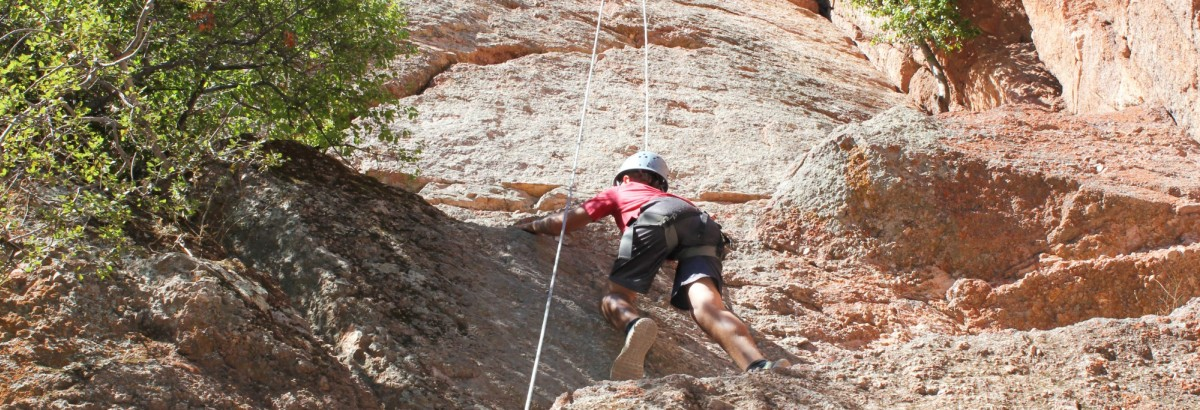 Rock climbing on the Sixth/Seventh Grade trip to Pinnacles