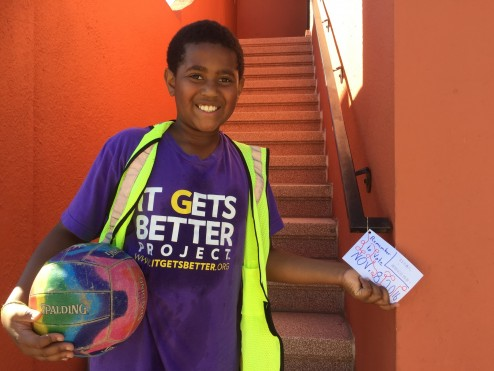 "Fifth Grade leads a ""Get Out The Vote"" Portola initiative"