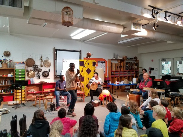 Middle School students had a special guest performance from The Nile Project. Our guests shared their music and taught students about the instruments unique to East Africa.