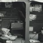 Listening center in 1st/2nd Grade classroom, mid 1970s