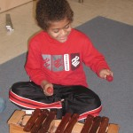 Kyle on the xylophone