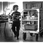 Early Days: Student with Cart