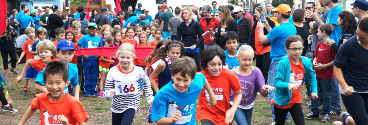 Elementary students at the Walkathon